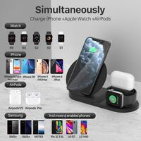 Wireless Charger Station, 3 in 1 Fast Charger Stand 华盛顿, 20011