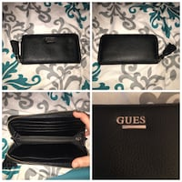 Guess Black pebbled leather guess wallet  Pitt Meadows, V3Y 1M9
