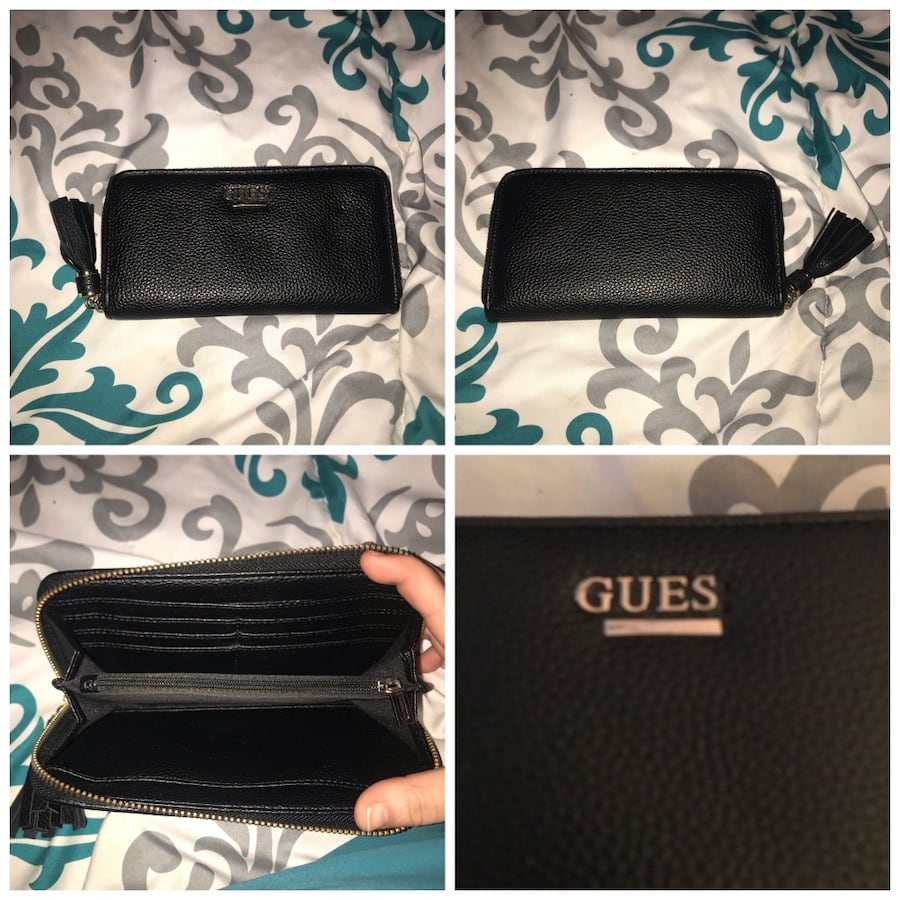 Guess Black pebbled leather guess wallet