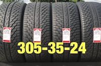 4 used tires 305/35/24 WinRun 85% tread Houston, 77047