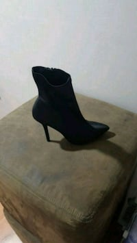 pair of black suede heeled booties Surrey, V3S 1R2