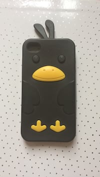 Coque d'iPhone canard noir et jaune Paris, 75018