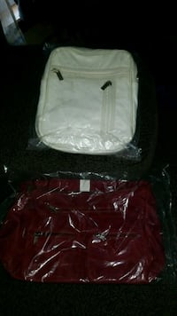 Burgundy and white purse Johnstown