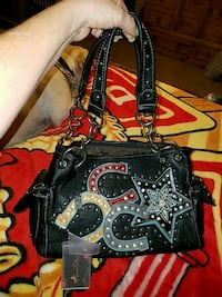 NWT..Montana west purse. Leather. Bling. Studs Haughton, 71037