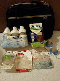 baby's assorted breast pumping equipments