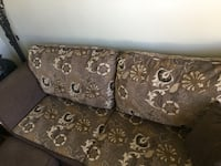 Brown and black floral sectional couch Laval, H7C 1M6