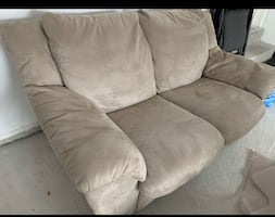 FREE DELIVERY TODAY ONLY - BEIGE LOVE SEAT - EXCELLENT CONDITION