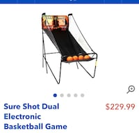 Dual electronic Basketball game. Brand new in box. Too big for our new home.