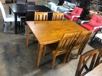 DINING TABLE SET ASSEMBLED Dallas
