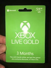 3 Month Xbox Live Card
