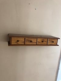 Brown wooden wall mount rack Johnson City, 13790