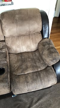 Love seat recliner with center cupholder and storage.  Cranston, 02905