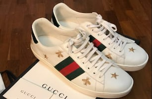 Gucci Ace 9.5 US. Retail is $800 right now.