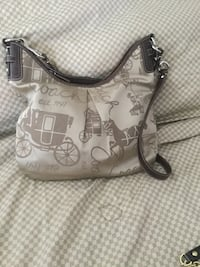 white and gray monogram Michael Kors leather tote bag Markham, L3P 2T5