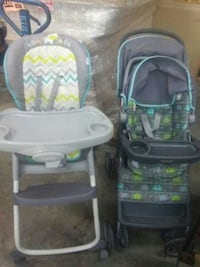 Baby stroller and highchair. Waldorf, 20603