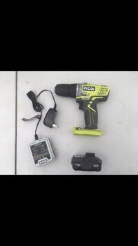 Ryobi 12-Volt Lithium-Ion 3/8 in. Cordless Drill/Driver Kit. $20 South Gate, 90280