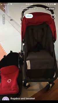 baby's red and black travel system Springfield, 22152