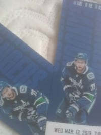 2 tix for tonight's game Vancouver