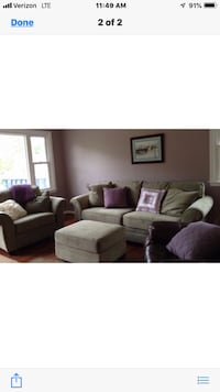 Like new sage green couch, oversized chair and ottoman. Only used a handful of times.  Woodbridge, 22191