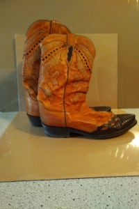 Men's Luchesse Leather with Lizard Tip Boot Markham