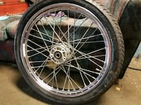 chrome multi-spoke motorcycle wheel with tire Coon Rapids, 55433