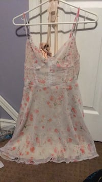 women's white and pink floral sleeveless dress Medicine Hat, T1C 0A4