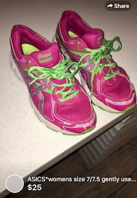 ASICS*womens size 7/7.5 gently used lots of life left London, N5W 1E8