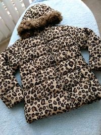 brown and black leopard print zip-up jacket Silver Spring, 20910