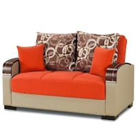 BRAND NEW MOBIMAX ORANGE SLEEPER LOVESEAT Clifton, 07013