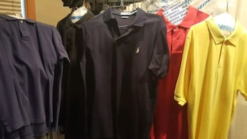 5 different large polo shirt lot just dry cleaned