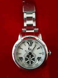 round silver-colored chronograph watch with link bracelet Edmonton, T6M 2T1