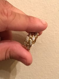 Solid 10k Cuban Link Ring with si diamonds 0.80 ct Toronto, M5A 2G6