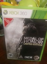 Xbox 360 game name of the game is medal of Honor l