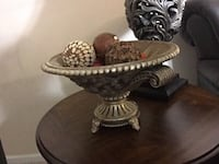 brown wooden framed glass top table 307 mi