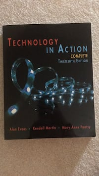 Technology in action textbook (CSC 101 at HCC) Hagerstown, 21740