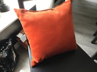 Orange decorator pillows