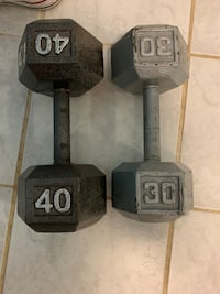 Dumbbells.  Price is OBO.  Springfield, 22150