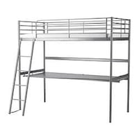 metal bunk bed frame with desk  Whitby, L1R