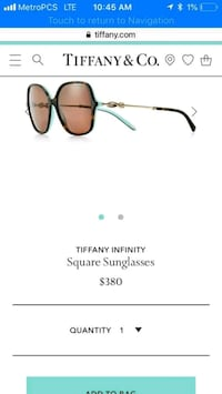 Tiffany & Co. sunglasses! Peachtree City, 30269