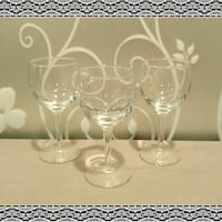 LOT OF 3 WINE GLASSES   Ontario, 91762