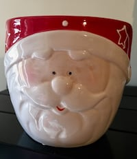 Santa Face Ceramic Pot