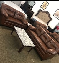 1Yr LEATHER SOFA AND LEATHER LOVESEAT Atlanta, 30349