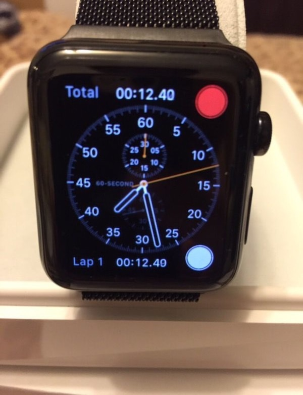 online store b6465 97aeb Apple Watch 42mm Stainless Steel Case with Black Sport Band. --Stainless  steel or space black stainless steel case. --Sapphire crystal;Retina display