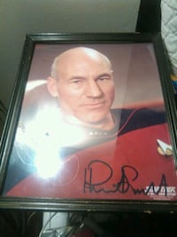 Prof. X Star Trek with signature wall decor