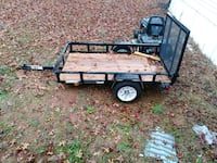 black utility trailer 682 km