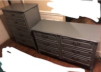 Sophisticated French Provincial grey dresser and chest of drawers set. Charlotte, 28269