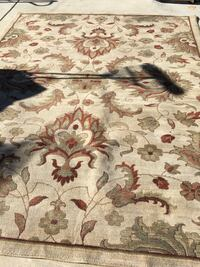 brown, white, and red floral area rug Manteca, 95337