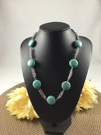 New Howlite Turquoise Necklace Chesapeake, 23320