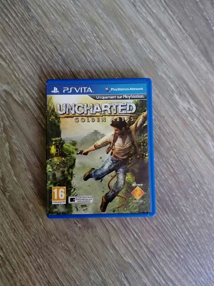 Sony Ps Vita Uncharted Golden Abyss case