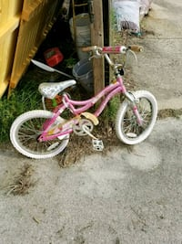 toddler's pink and white bicycle Fayetteville, 28306